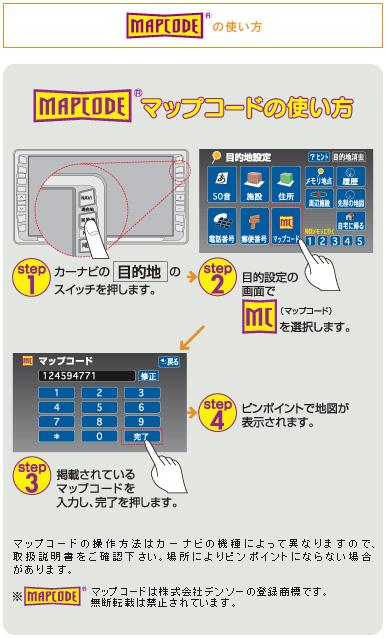 マップコードの使い方